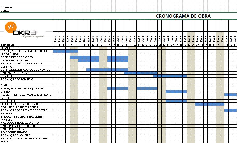 Cronograma de obra: como uma empresa de arquitetura e engenharia pode ajudar