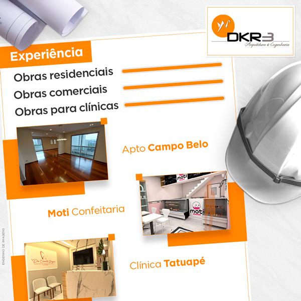 Vasta experiência em obras residenciais, comerciais e clínicas