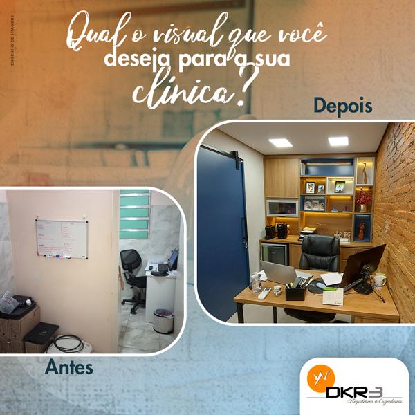 Qual o visual que você deseja para a sua clínica?